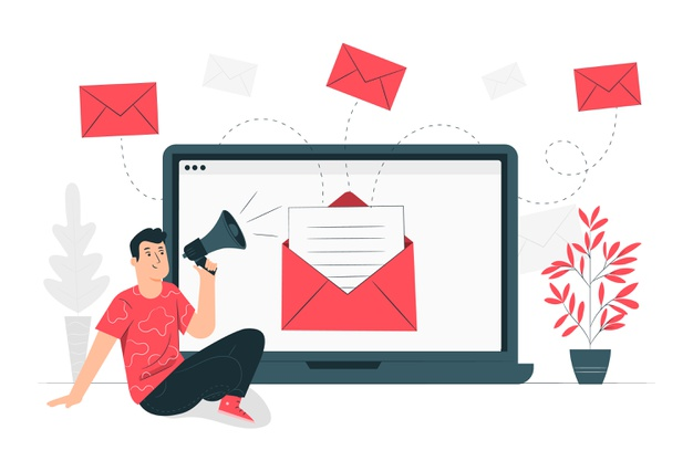 Ilustrasi email for business